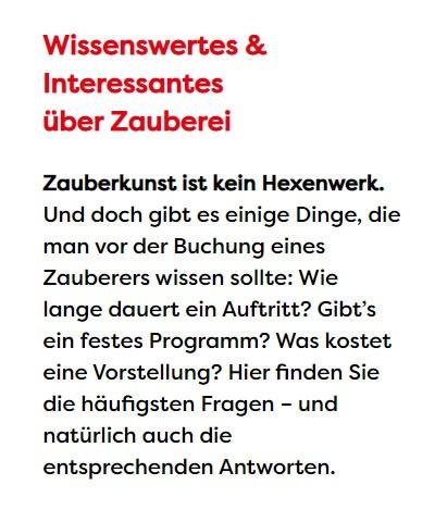 Zauberkunst in  Bayern