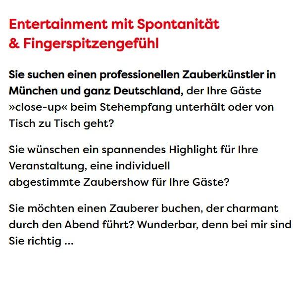 Zaubervorstellung & magische Vorstellungen für 86150 Augsburg